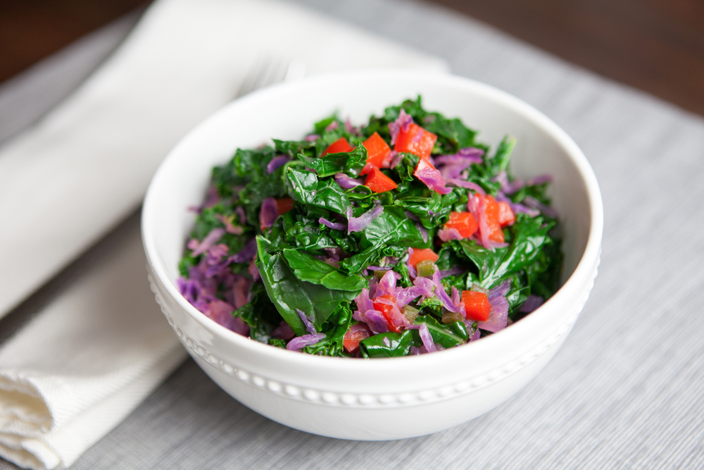 Kale and Cabbage Salad with Coconut Lime Dressing | www.thatwasvegan.com