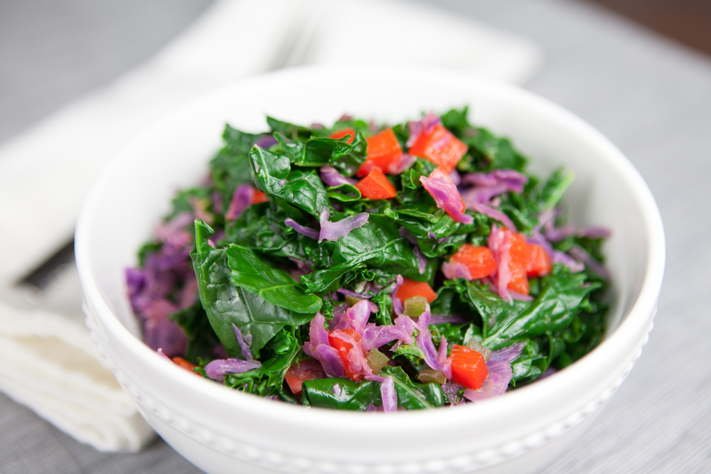 Kale and Cabbage Salad with Coconut Lime Dressing