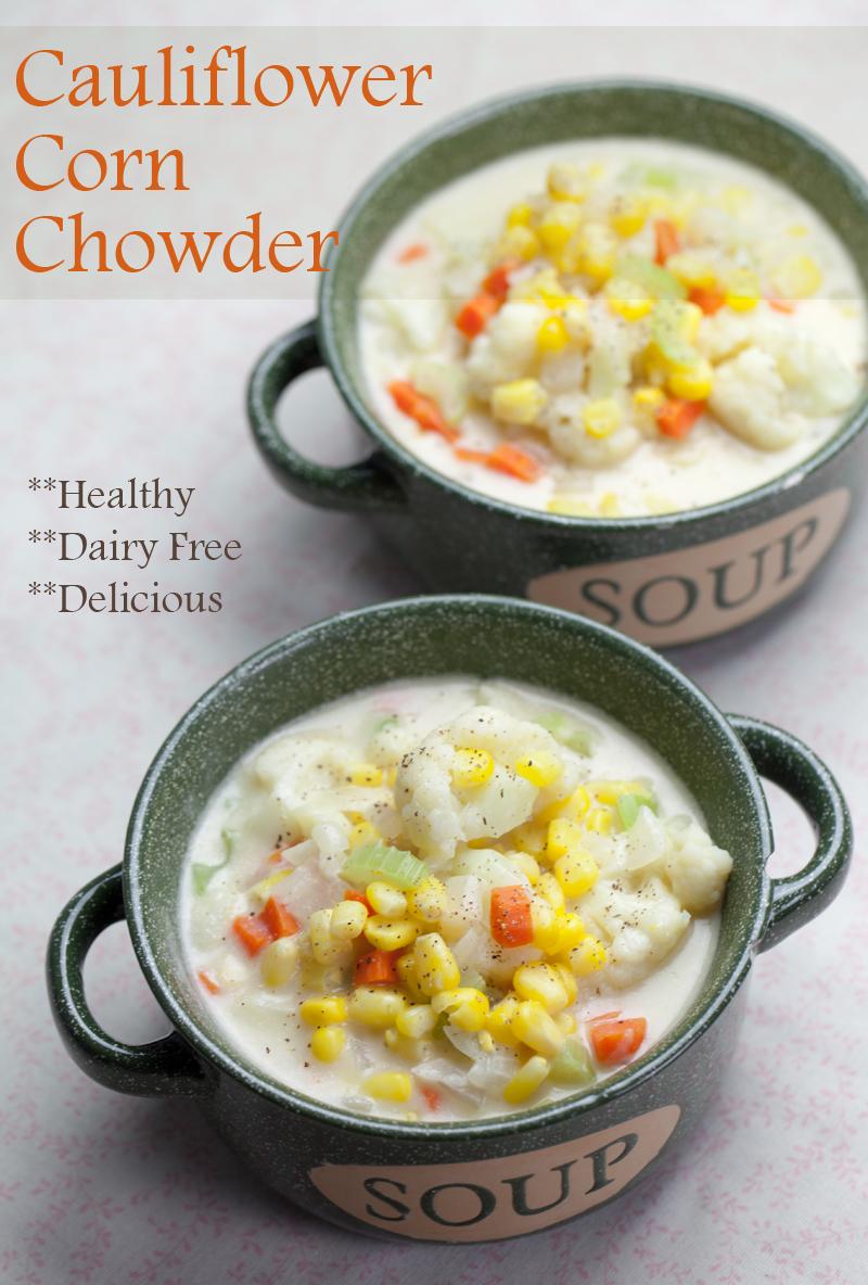 Cauliflower Corn Chowder | www.thatwasvegan.com