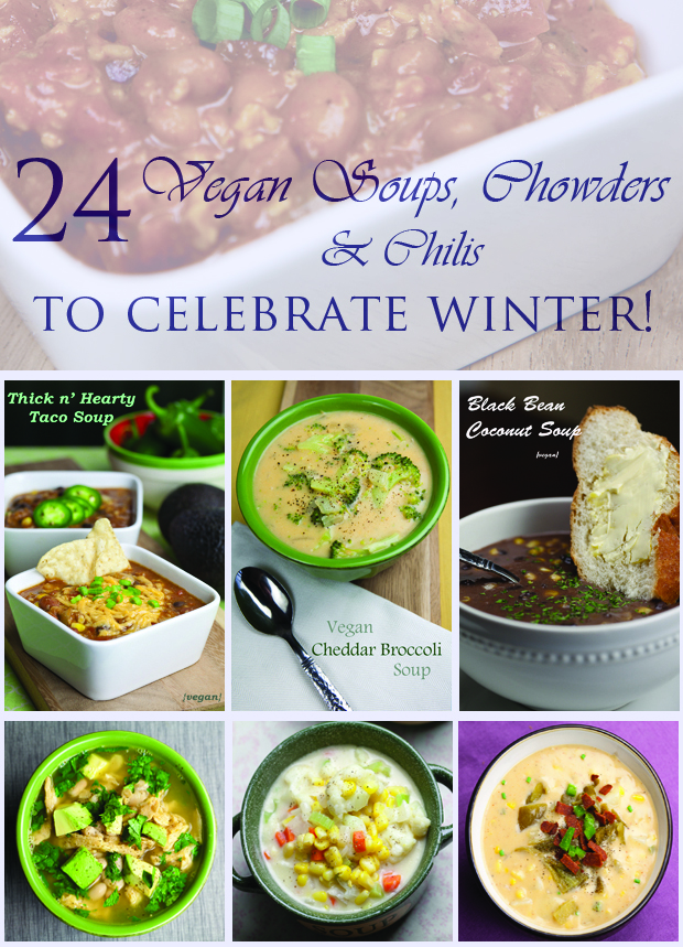 24 Vegan Soups, Chowders and Chilies to Celebrate Winter | www.thatwasvegan.com