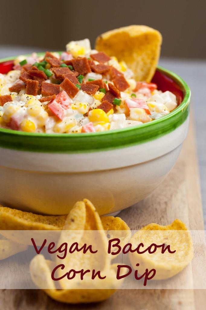 Creamy Bacon Corn Dip | www.thatwasvegan.com