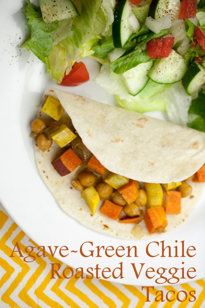 Agave-Green Chile Roasted Veggie Tacos | www.thatwasvegan.com