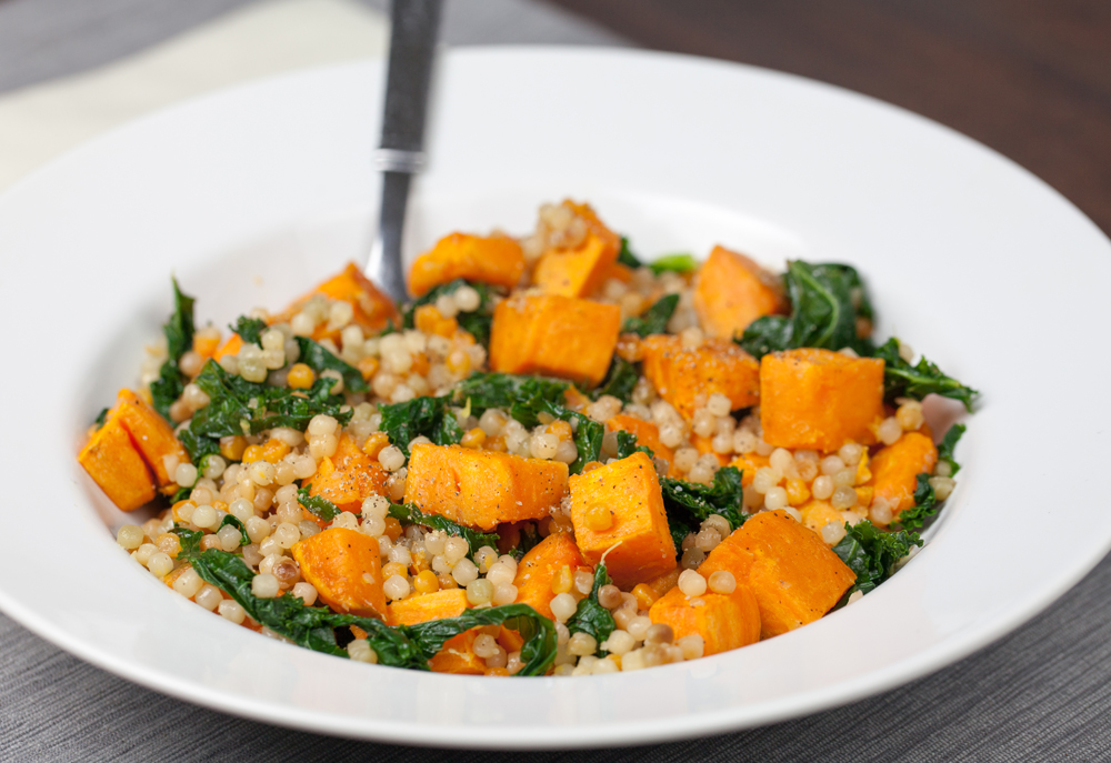 Lemon Couscous with Sweet Potato and Kale | www.thatwasvegan.com