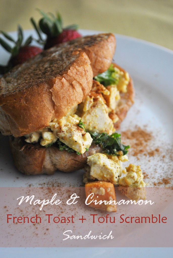 French Toast & Tofu Scramble Sandwich | www.thatwasvegan.com