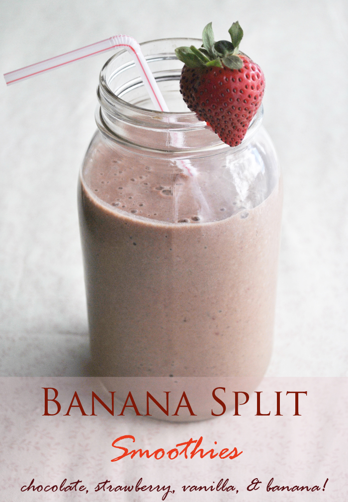 Banana Split Smoothies | www.thatwasvegan.com