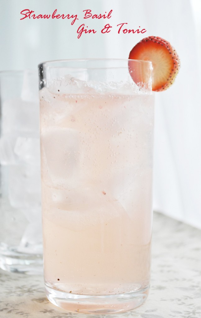 Strawberry Basil Gin & Tonic | www.thatwasvegan.com