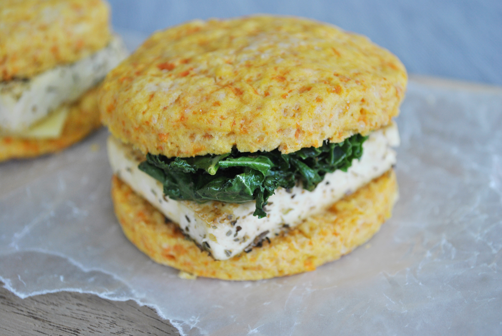 Savory Sweet Potato Breakfast Biscuit Sandwiches | www.thatwasvegan.com
