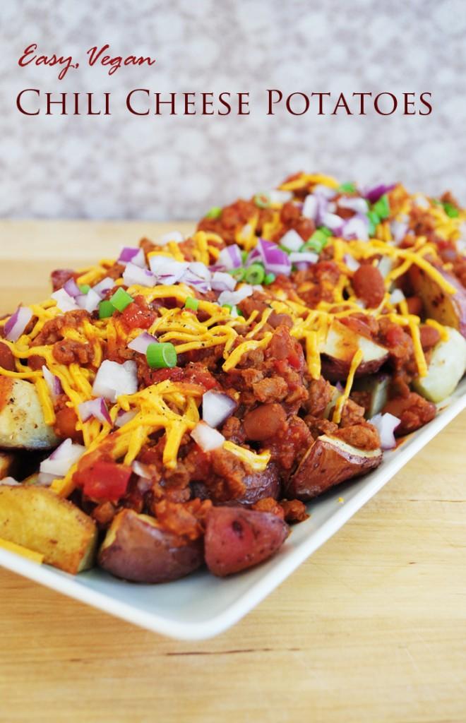Chili Cheese Red Potatoes | www.thatwasvegan.com