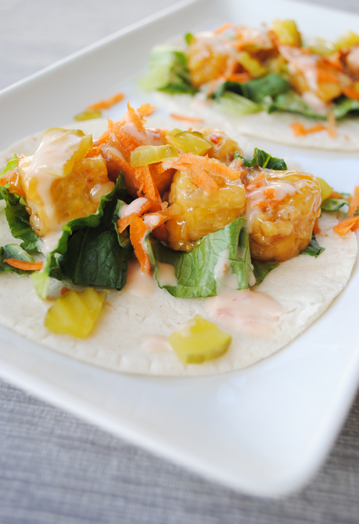 Thai Tempeh Tacos - deliciously sweet n' spicy vegan tacos! www.thatwasvegan.com