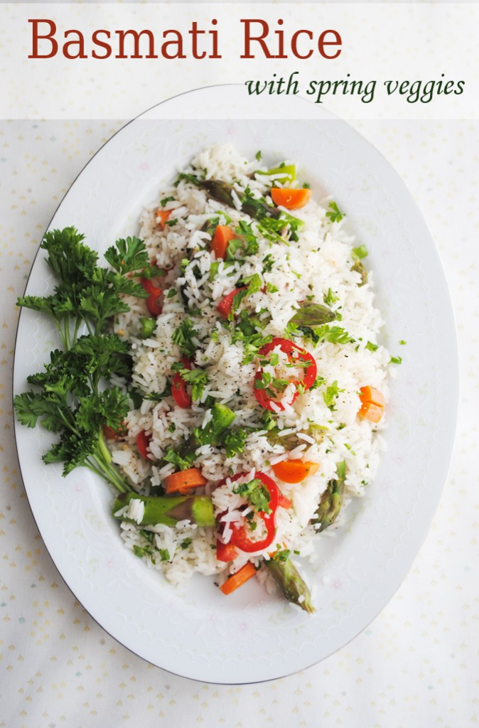 Citrus-Sweet Basmati Rice with Spring Vegetables | www.thatwasvegan.com