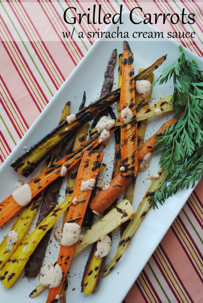 Grilled Carrots with a Sriracha Cream Sauce | www.thatwasvegan.com