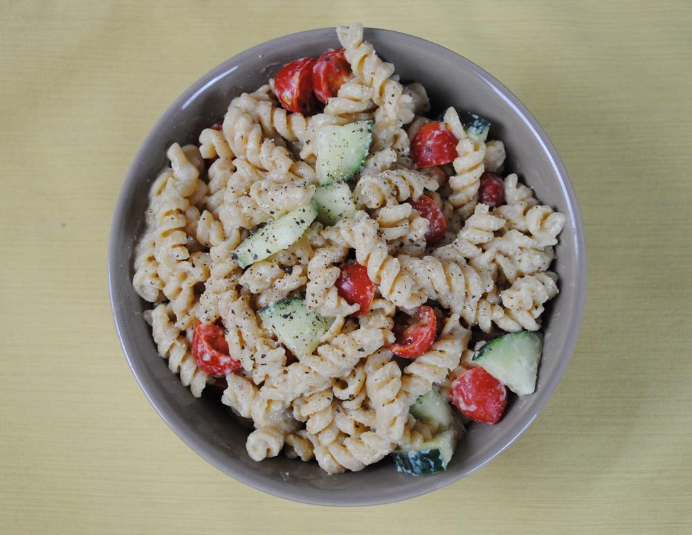 Hummus Pasta Salad | www.thatwasvegan.com